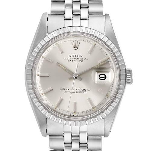 Photo of Rolex Datejust Silver Dial Jubilee Bracelet Vintage Mens Watch 1603