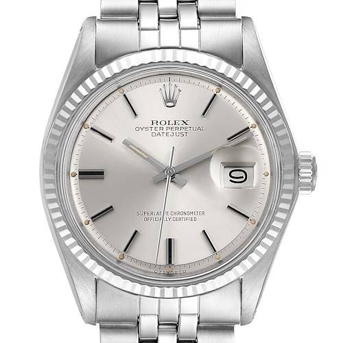 Photo of Rolex Datejust Steel White Gold Sigma Dial Vintage Mens Watch 1601
