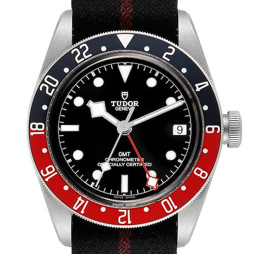 Photo of Tudor Heritage Black Bay GMT Pepsi Bezel Mens Watch 79830RB Box Papers