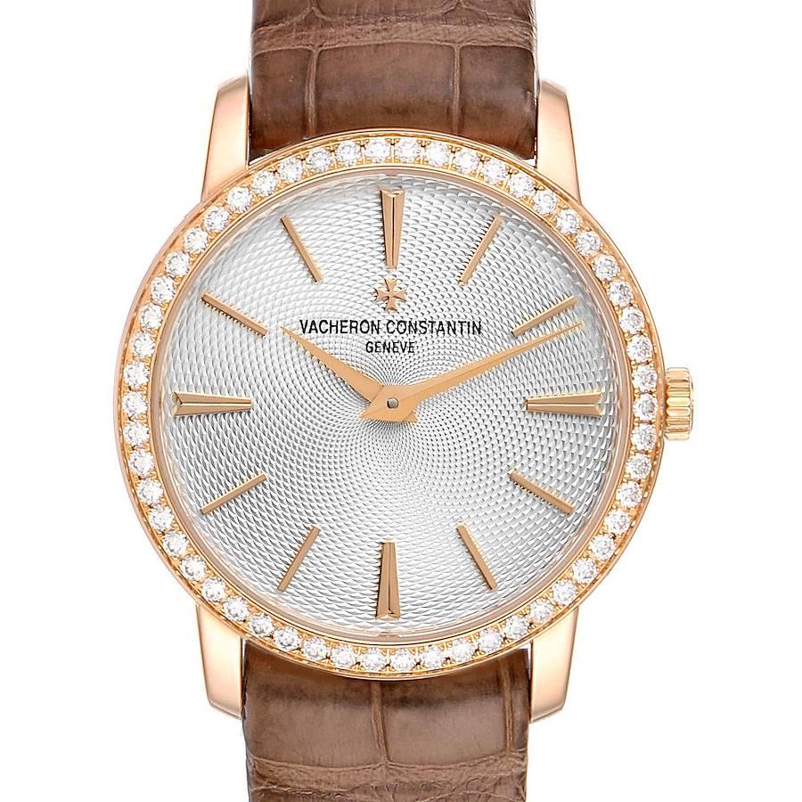 Vacheron Constantin Traditionnelle 18k Rose Gold Diamond Ladies Watch 81590 SwissWatchExpo