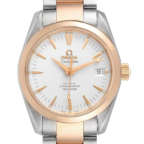 Photo of Omega Seamaster Aqua Terra Midsize Steel Rose Gold Mens Watch 2304.30.00