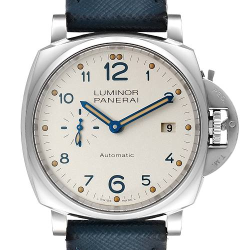 Photo of Panerai Luminor Due 3 Days 42mm Ivory Dial Mens Watch PAM00906 Box Papers