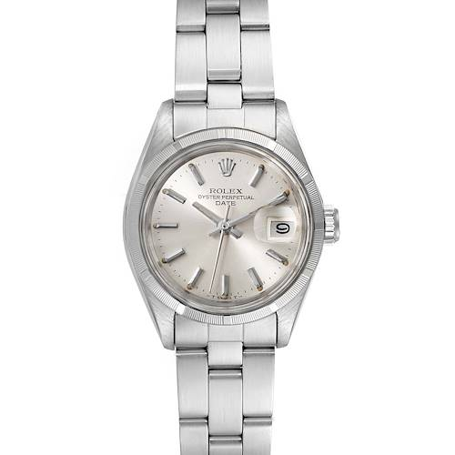 Photo of Rolex Date Oyster Bracelet Silver Dial Steel Ladies Watch 69190 Papers