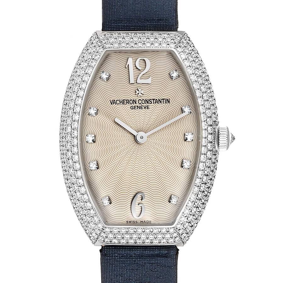 Vacheron Constantin Egerie White Gold Diamond Ladies Watch 25541 SwissWatchExpo