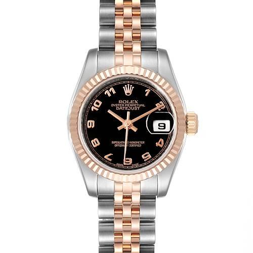 Photo of Rolex Datejust Steel Everose Gold Arabic Numerals Ladies Watch 179171