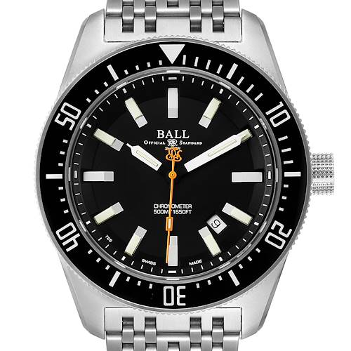 Ball Engineer Master Skindiver II Black Dial Steel Mens Watch DM3108A Card
