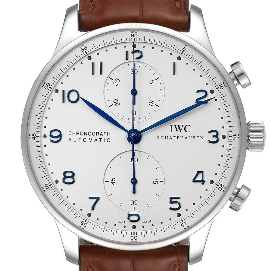 IWC Portuguese Chronograph Automatic Steel Mens Watch IW371417 SwissWatchExpo