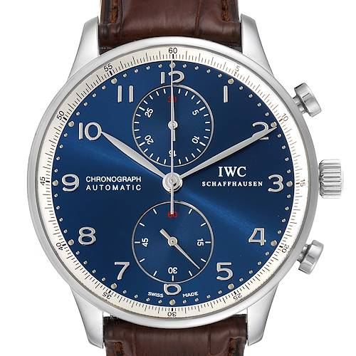 Photo of IWC Portuguese Chronograph Limited Edition Steel Mens Watch IW371432