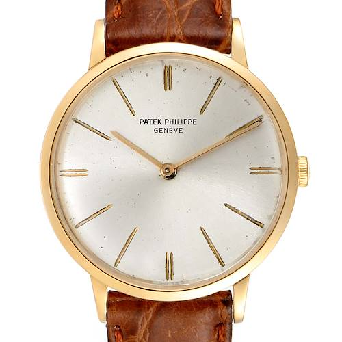 Photo of Patek Philippe Calatrava Yellow Gold Vintage Mens Watch 3468