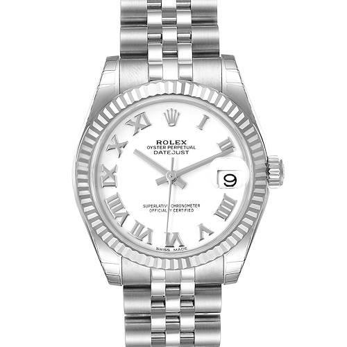 Photo of Rolex Datejust Midsize 31 Steel White Gold Ladies Watch 178274 Unworn