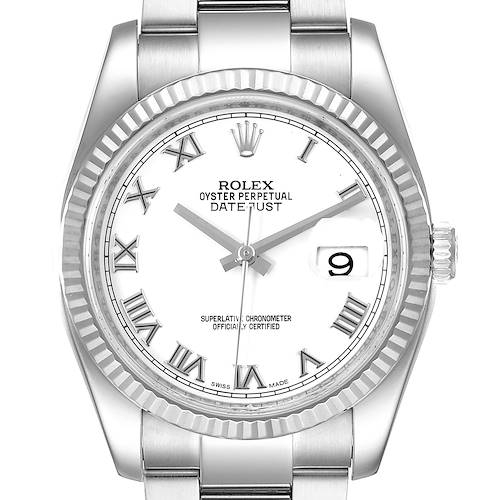 Photo of Rolex Datejust Steel White Gold Mens Watch 116234 Box Papers
