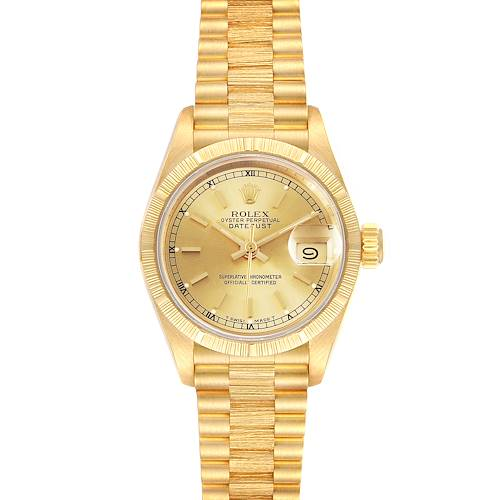 Photo of Rolex President Datejust 18K Yellow Gold Ladies Watch 69278 Box Papers