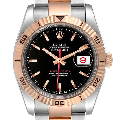 Photo of Rolex Turnograph Datejust Steel Rose Gold Mens Watch 116261
