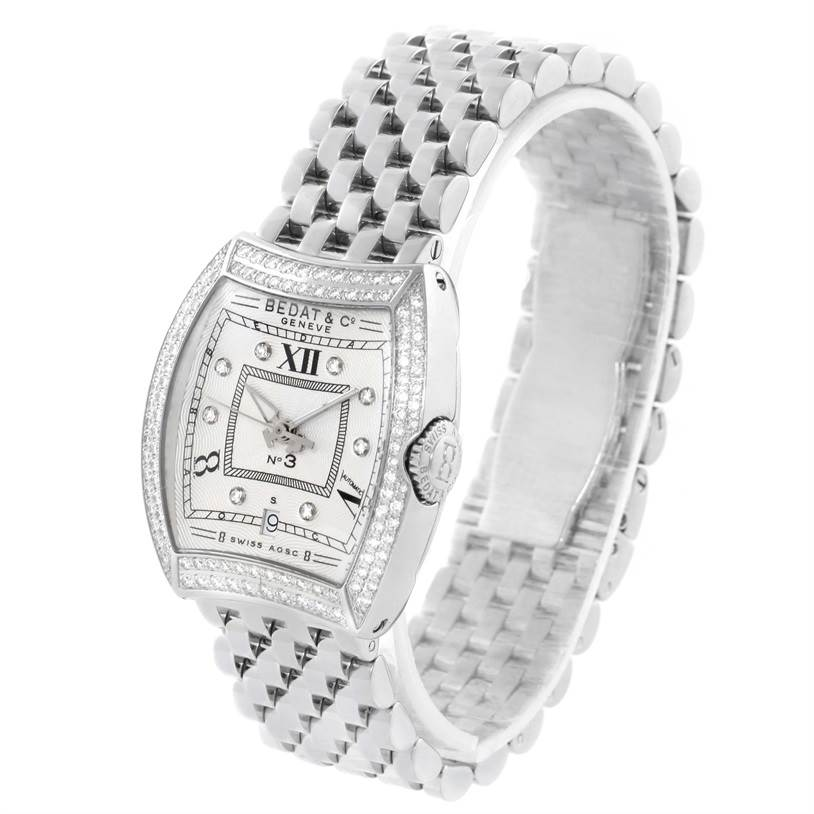 11614 Bedat No 3 Ladies Stainless Steel Diamond Watch 314.031.109 SwissWatchExpo
