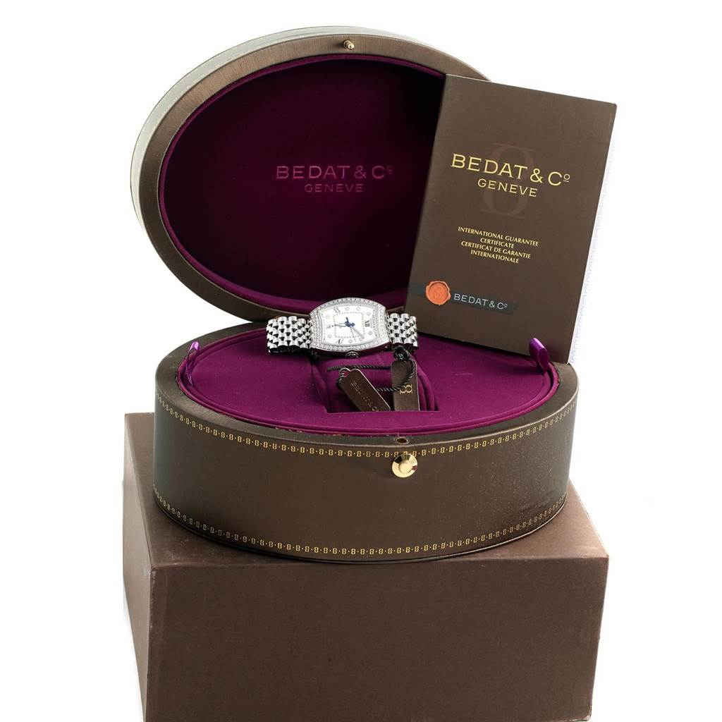 Bedat No. 3 Stainless Steel Diamond Ladies Watch 315.071.109 Unworn SwissWatchExpo