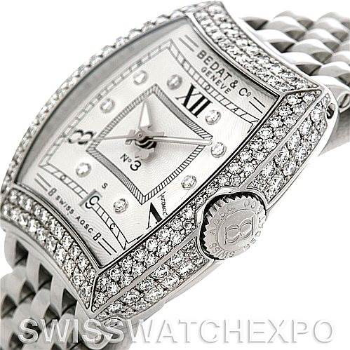 Bedat No. 3 Ladies Stainless Steel Diamond Watch 314.051.109 SwissWatchExpo