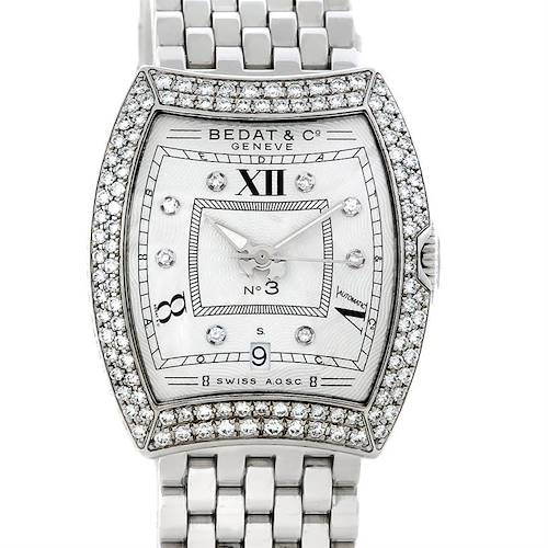 Photo of Bedat No. 3 Ladies Stainless Steel Diamond Watch 314.051.109