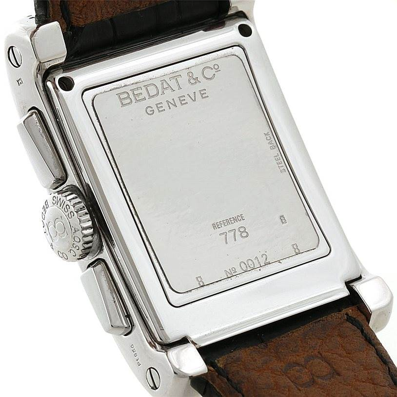 8093 Bedat No 7 Stainless Steel Chronograph Watch 778.010.610 SwissWatchExpo