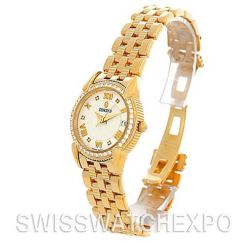 Concord Impresario 18k Gold Diamond Womens Watch 0309093 SwissWatchExpo