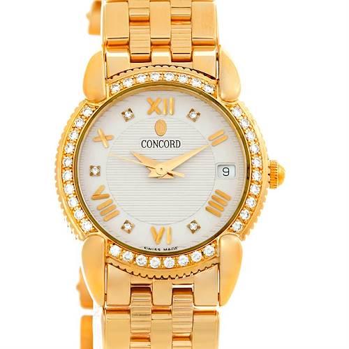 Photo of Concord Impresario 18k Gold Diamond Womens Watch 0309093