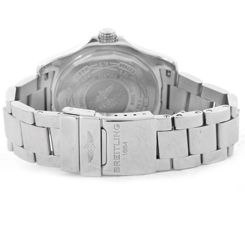 Breitling Aeromarine Avenger II GMT Steel Blue Dial Watch A32390 SwissWatchExpo