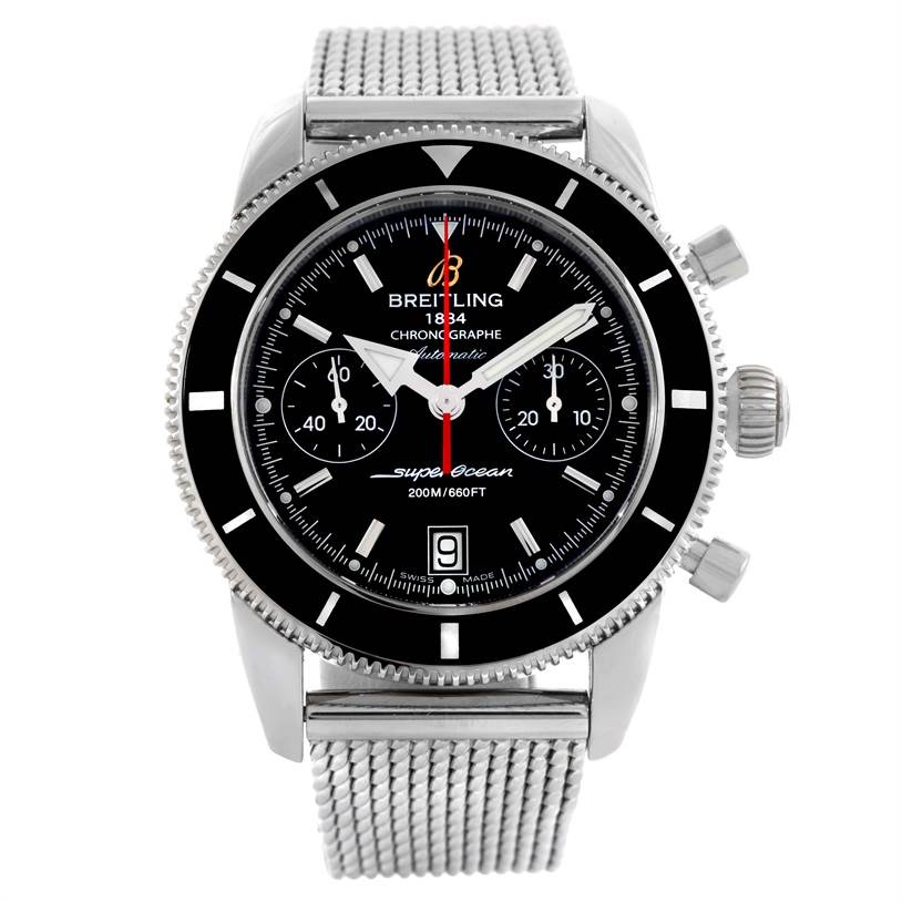 10085 Breitling SuperOcean Heritage Chrono 44 Chronograph Watch A23370 SwissWatchExpo