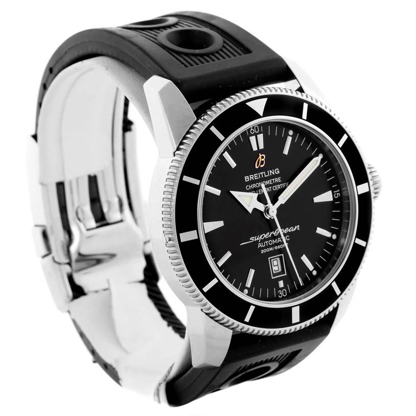 10321 Breitling Superocean Heritage 46 Black Dial Mens Watch A17320 SwissWatchExpo