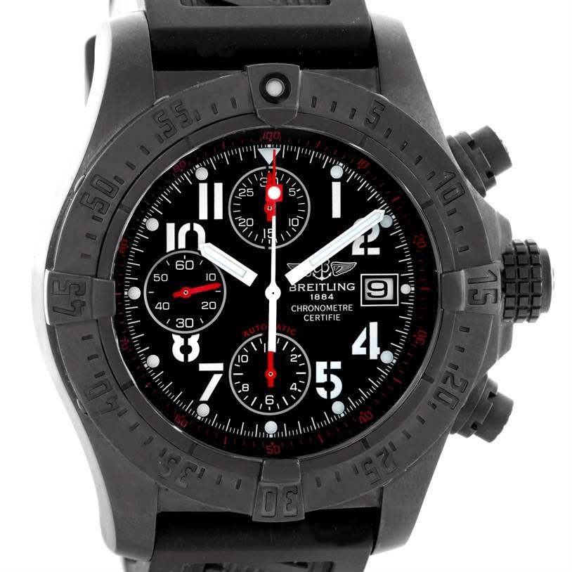 Breitling Aeromarine Avenger Skyland BlackSteel Limited Watch M73390 SwissWatchExpo