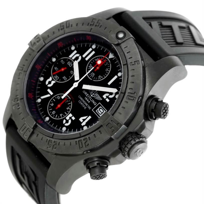 10668 Breitling Aeromarine Avenger Skyland BlackSteel Limited Watch M73390 SwissWatchExpo