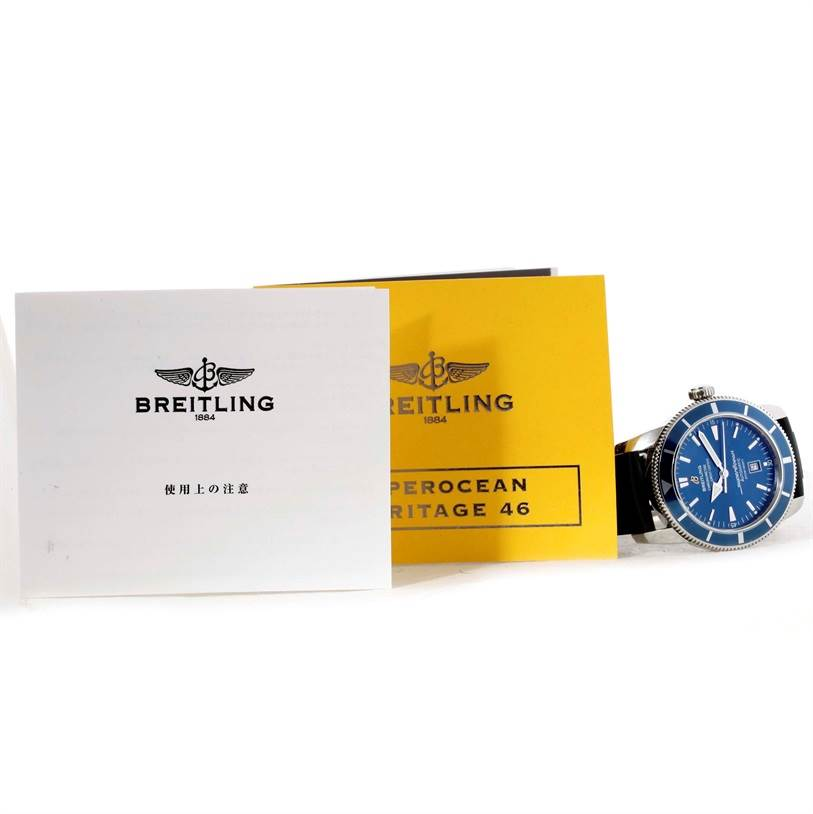 10876 Breitling Superocean Heritage 46 Blue Dial Mens Watch A17320 SwissWatchExpo