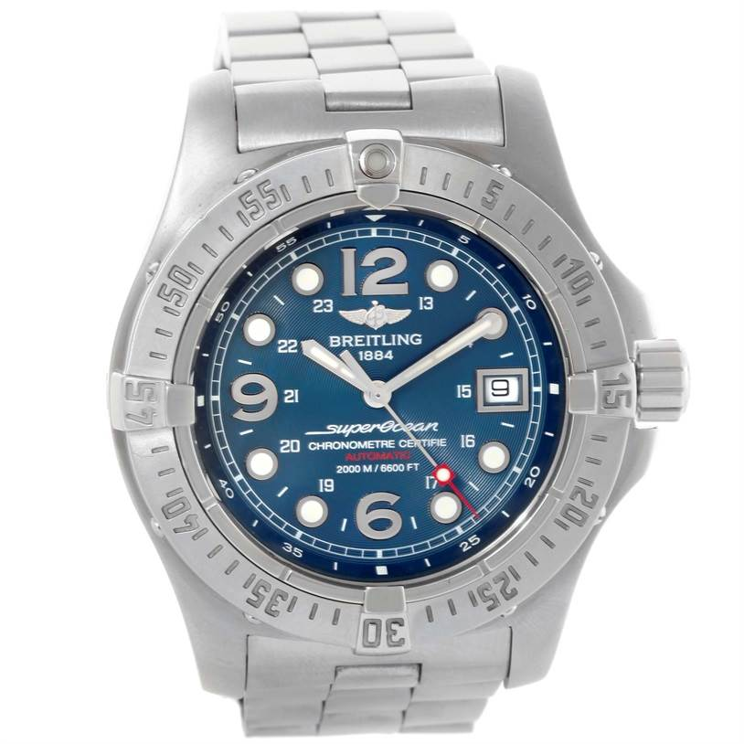 sports shoes 0fe80 f0a7b Breitling Aeromarine Superocean Steelfish Blue Dial Watch A17390