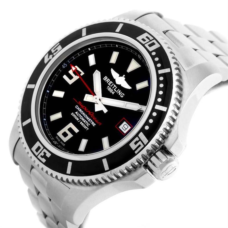 Breitling Aeromarine Superocean 44 Steel Mens Watch A17391 Unworn SwissWatchExpo