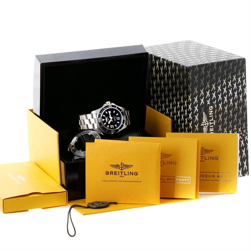 11076 Breitling Aeromarine Superocean 44 Steel Mens Watch A17391 Unworn SwissWatchExpo