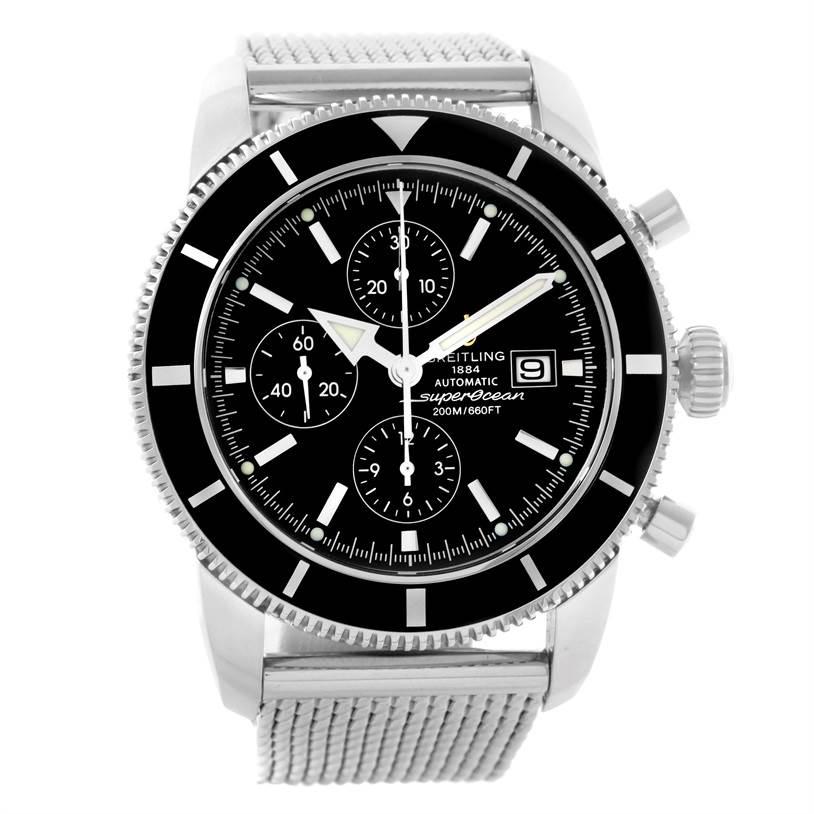 11133 Breitling SuperOcean Heritage Chrono 46 Mesh Bracelet Watch A13320 SwissWatchExpo