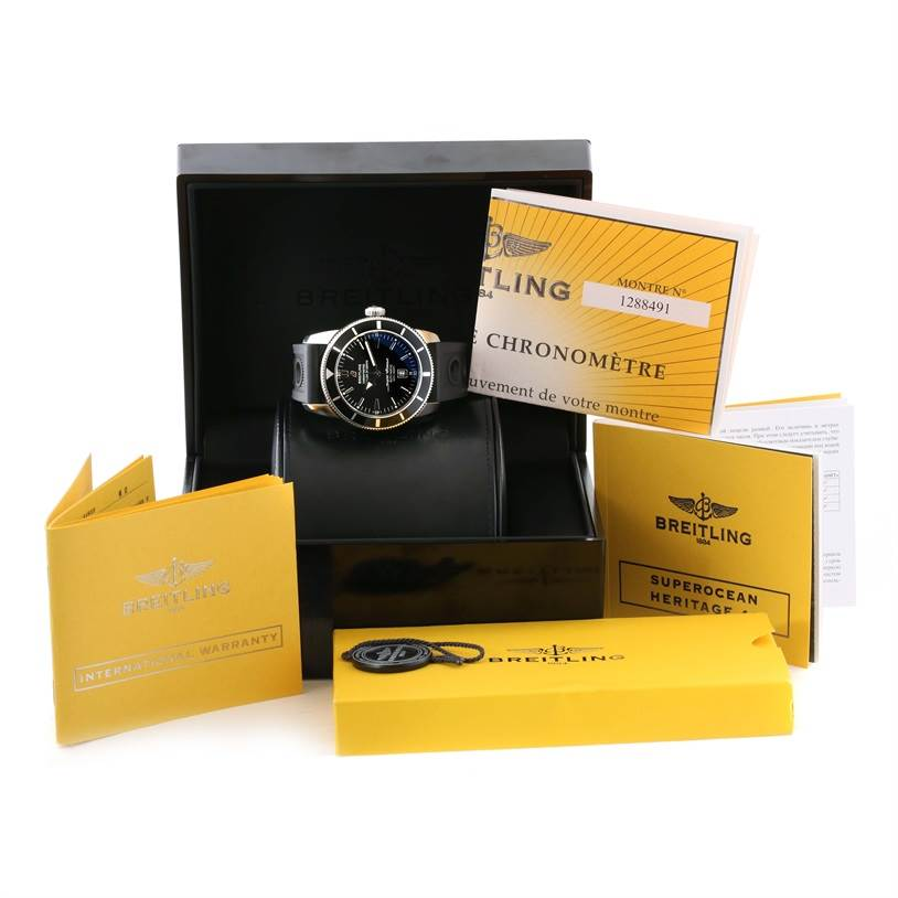 11560 Breitling Superocean Heritage 46 Rubber Strap Mens Watch A17320 SwissWatchExpo