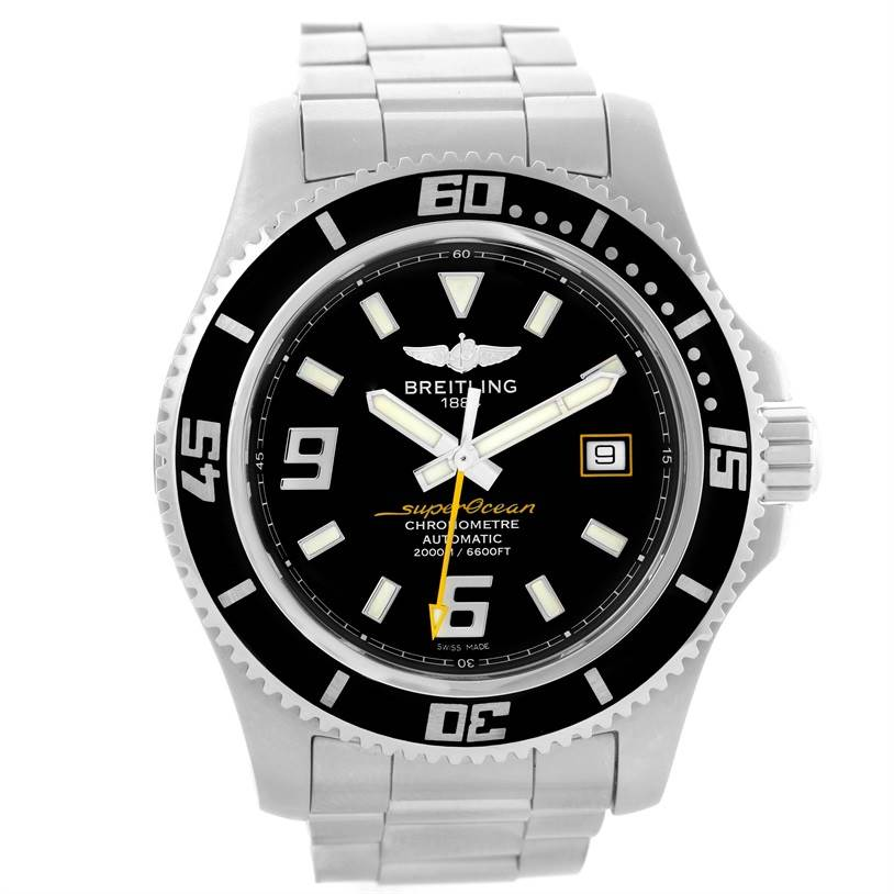 11653 Breitling Aeromarine Superocean 44 Steel Mens Watch A17391 Box Papers SwissWatchExpo