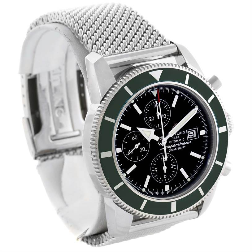 11692 Breitling SuperOcean Heritage Limited Edition Green Bezel Watch A13320 SwissWatchExpo