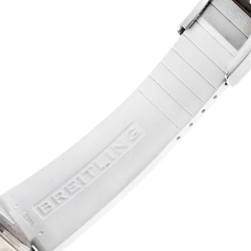 Breitling Superocean GMT White Dial Rubber Watch A32380A9-A737 Unworn SwissWatchExpo