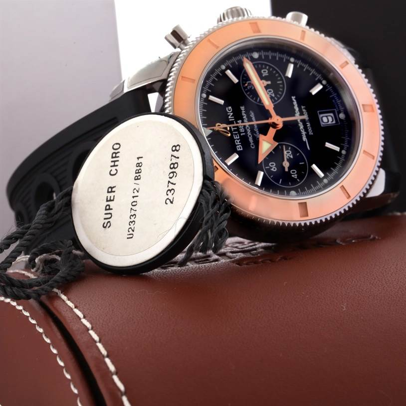 11728 Breitling Superocean Heritage 44 Steel Red Gold Watch U23370 Unworn SwissWatchExpo