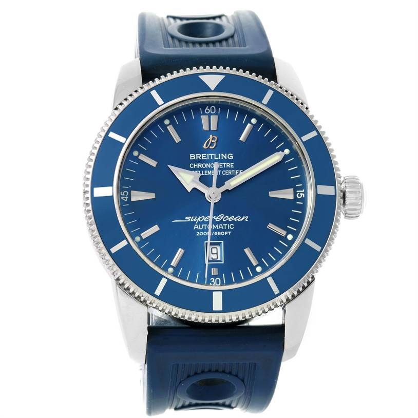 12014 Breitling Superocean Heritage 46 Blue Dial Mens Watch A17320 SwissWatchExpo