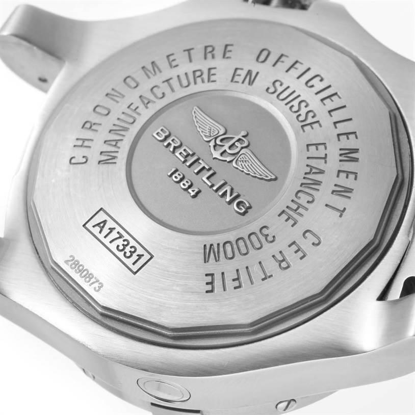 11972 Breitling Aeromarine Avenger II Seawolf Black Dial Mens Watch A17331 SwissWatchExpo