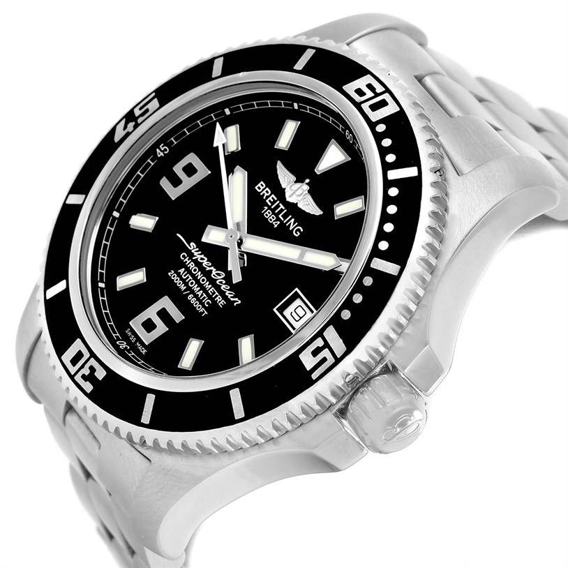 13054 Breitling Aeromarine Superocean 44 Steel Mens Watch A17391 Box Papers SwissWatchExpo