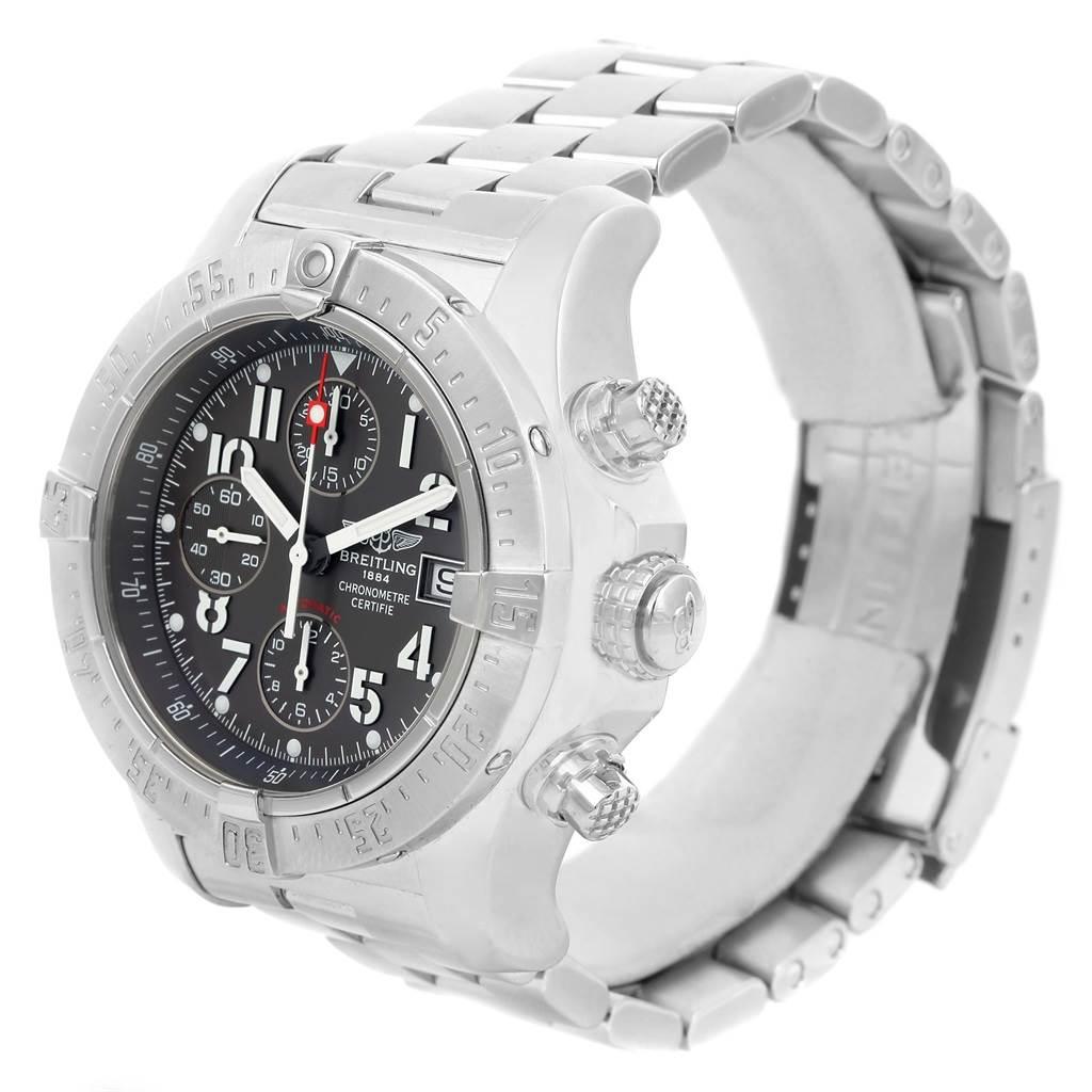 Breitling Aeromarine Avenger Skyland Grey Dial Mens Watch A13380 SwissWatchExpo