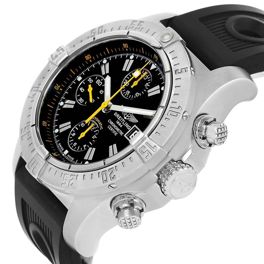 12082 Breitling Avenger Skyland Code Yellow Limited Edition Watch A13380 SwissWatchExpo