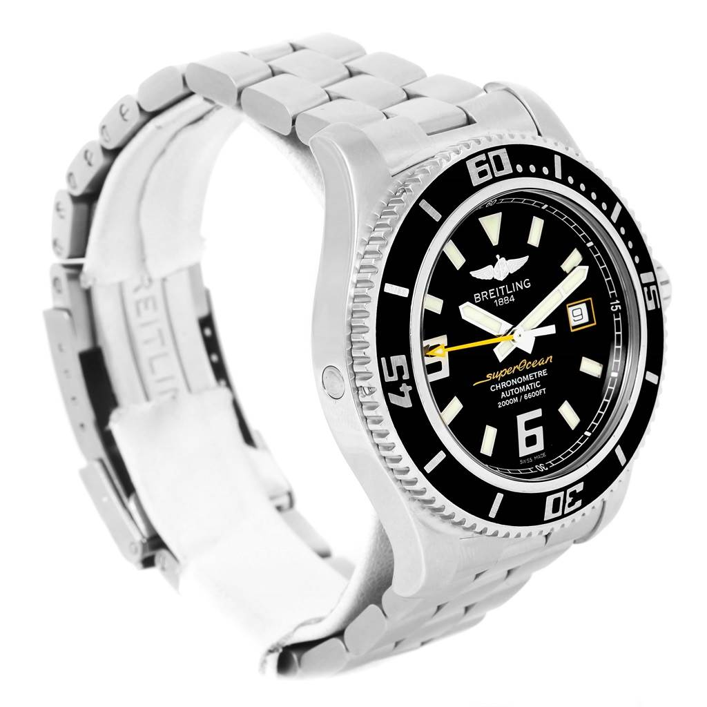 13543 Breitling Aeromarine Superocean 44 Steel Mens Watch A17391 Box Papers SwissWatchExpo