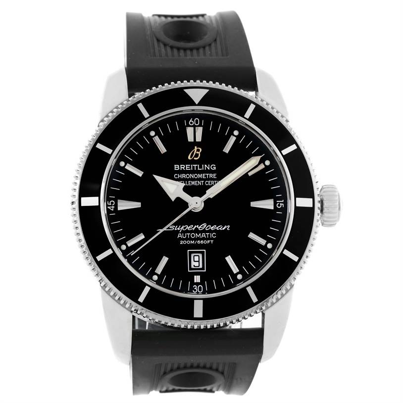 13890 Breitling Superocean Heritage 46 Rubber Strap Mens Watch A17320 SwissWatchExpo