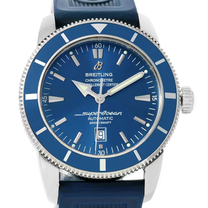 14169 Breitling Superocean Heritage 46 Blue Dial Mens Watch A17320 SwissWatchExpo