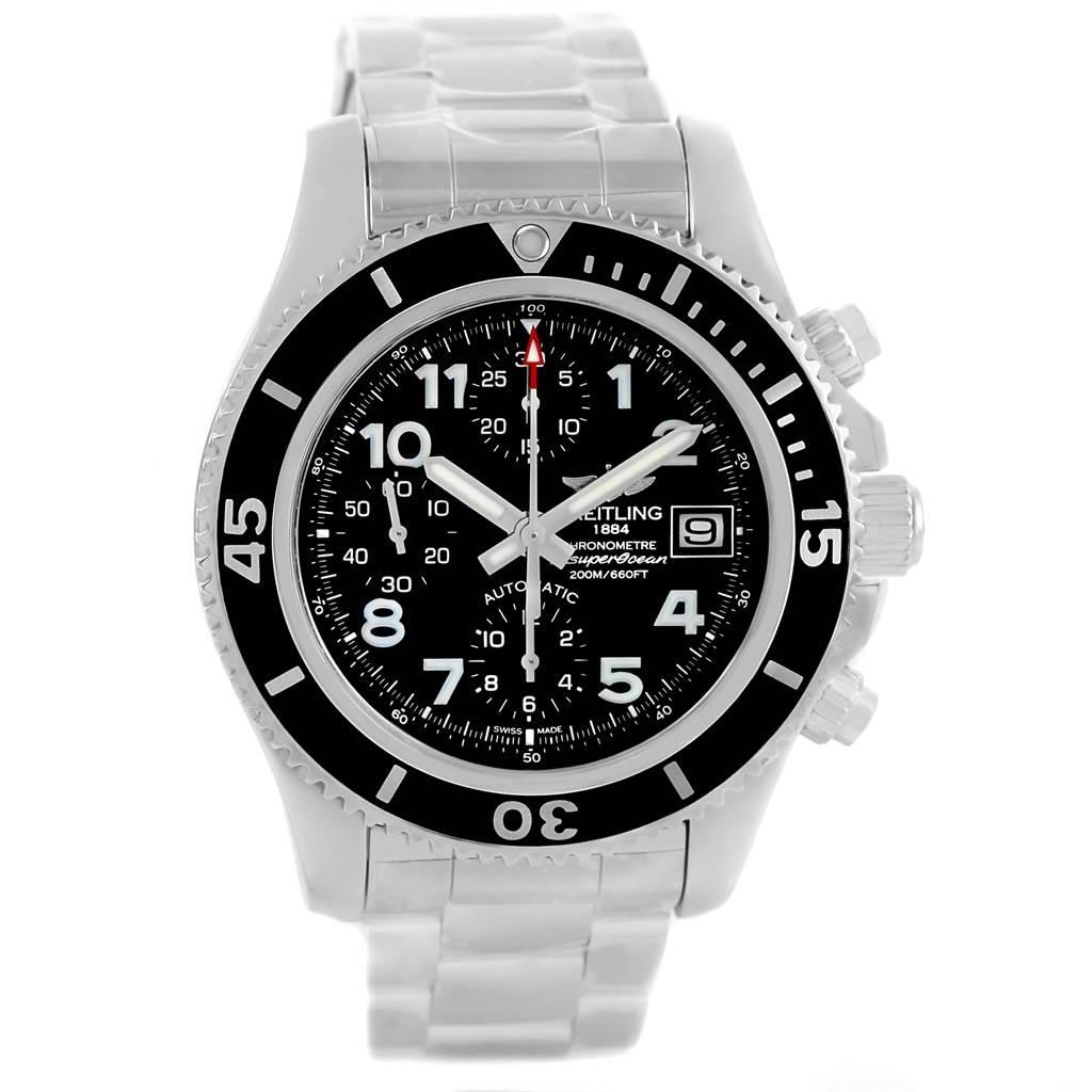 Breitling Superocean Chronograph 42 Steel Mens Watch A13311 Unworn SwissWatchExpo