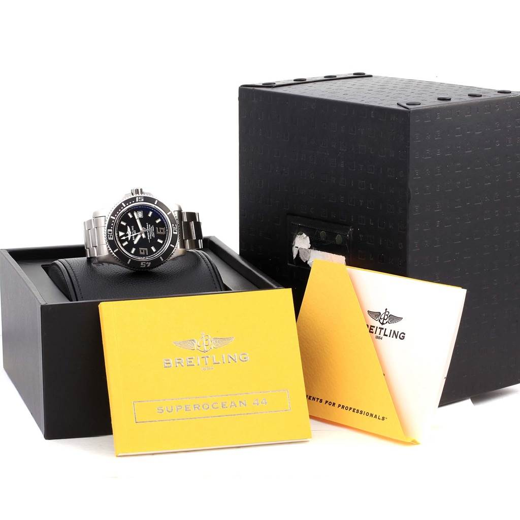 Breitling Aeromarine Superocean 44 Steel Mens Watch A17391 Year 2014 SwissWatchExpo