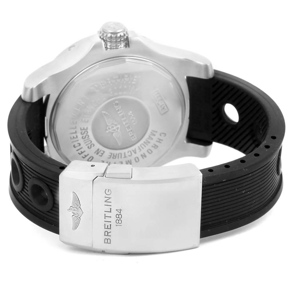 14306 Breitling Aeromarine Avenger II Seawolf Yellow Dial Mens Watch A17331 SwissWatchExpo